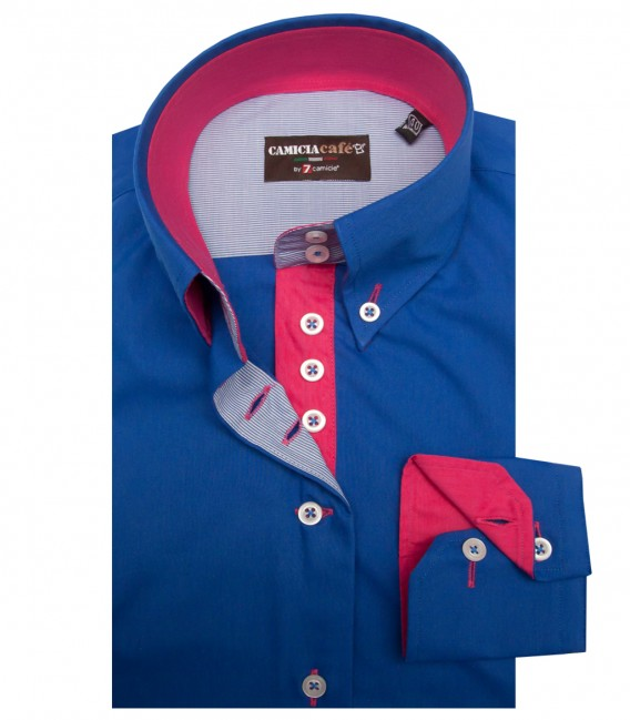 Shirt Silvia Cotton Polyester Bluette