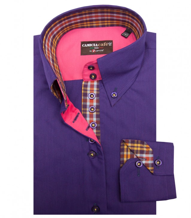 Shirt Silvia Cotton Polyester Violet