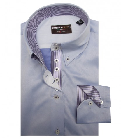 Shirt Silvia Cotton Polyester Lilac
