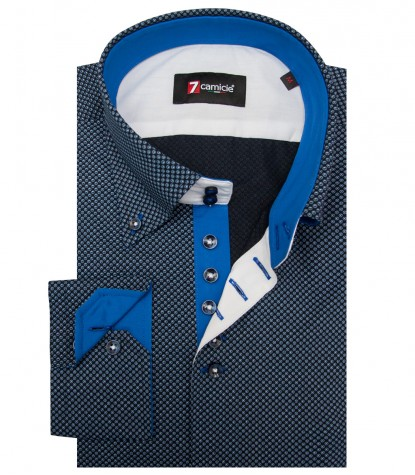 Shirt Roma Cotton Blue Avion Blue