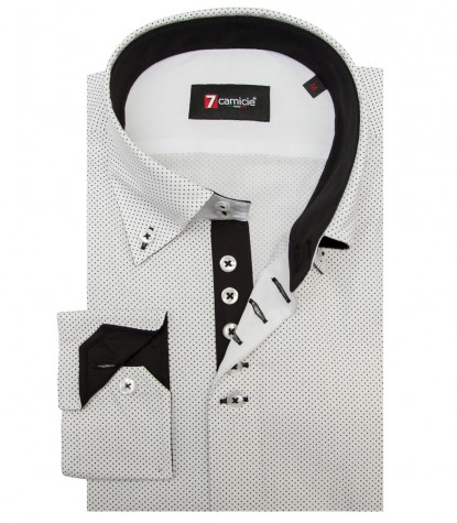 Shirt Roma Cotton WhiteBlack