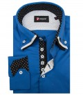 Shirt Vesuvio Satin Bluette