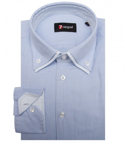 Chemises Marco Polo Oxford Bleu clair