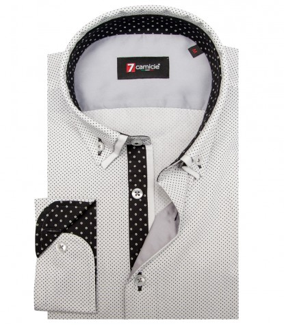 Shirt Leonardo Cotton WhiteBlack