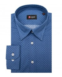Shirt Leonardo Cotton Blue Avion Blue