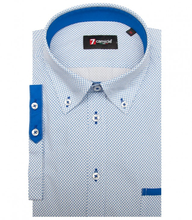 Shirt Leonardo Cotton WhiteBlue
