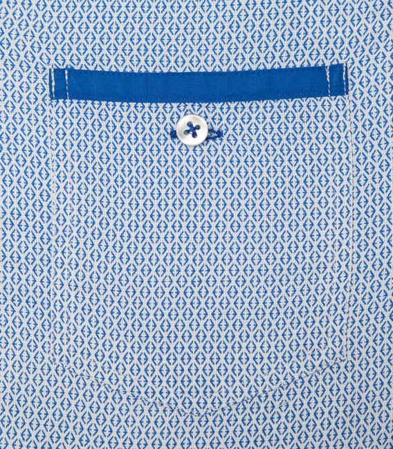 Shirt Leonardo Cotton White Light Blue