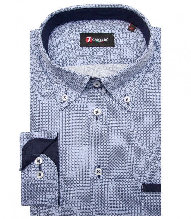 Shirt Leonardo Cotton Light BlueBlue