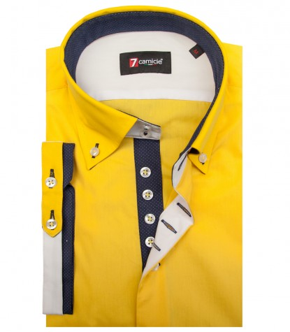 Shirt Marco Polo poplin Yellow