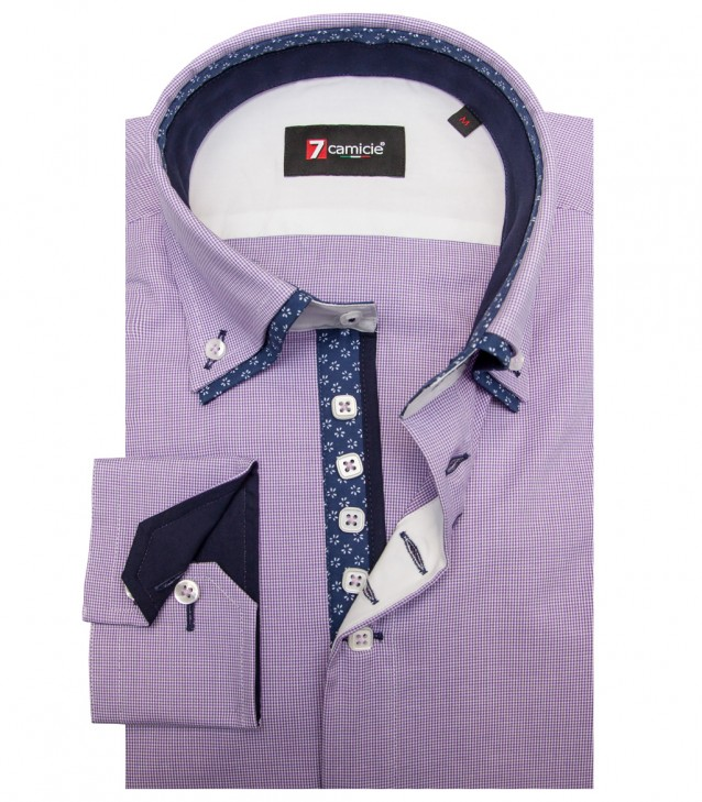 Shirt Marco Polo Cotton WhiteLilac
