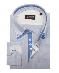 Shirt Marco Polo Poplin WhiteBlue