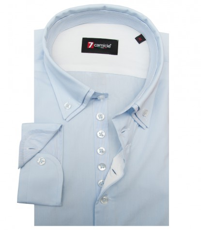 Shirt Donatello poplin Light Blue