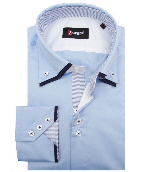 Shirt Colosseo Satin Light Blue