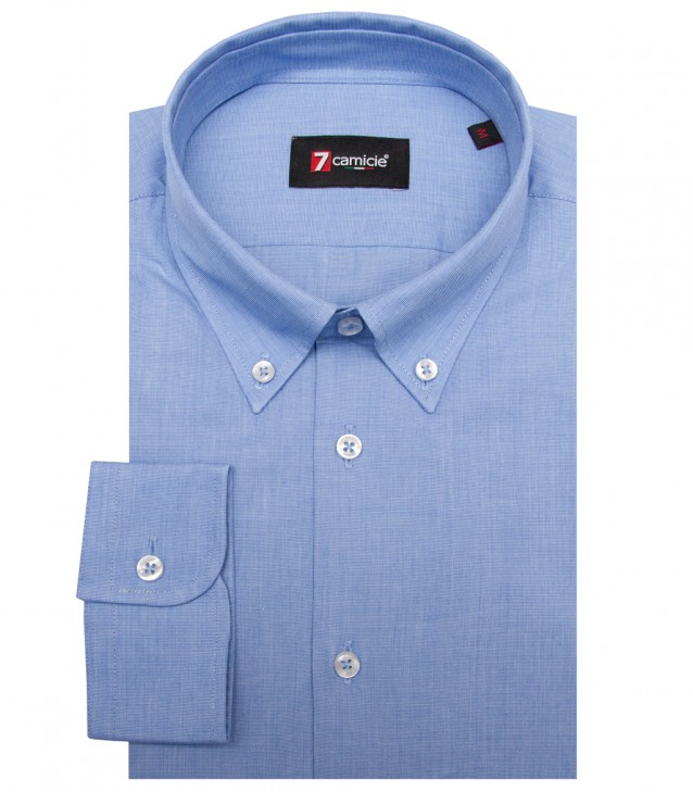 Shirt Leonardo Fil a fil Ink Blue