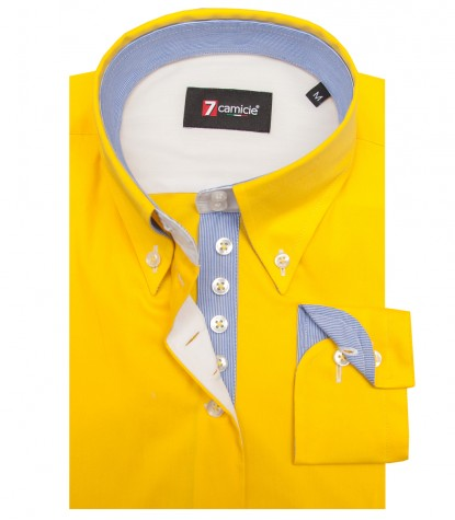 Shirt Silvia stretch poplin Yellow