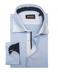 Shirt Lorenzo Satin Light Blue