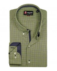 Shirt Leonardo Poplin green and blue