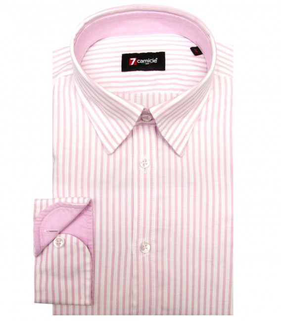Chemises Leonardo Oxford blanc Rose