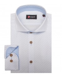 Shirt Firenze Cotton White Light Blue