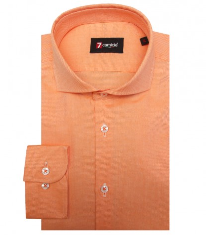 Chemises Firenze Tissu en nid d abeille Orange