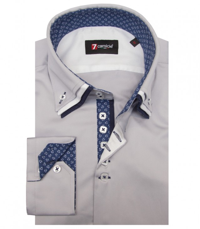 Shirt Vesuvio Satin Light Grey