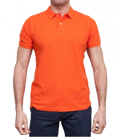 Poloshirts Capri Piquet Baumwolle Orange
