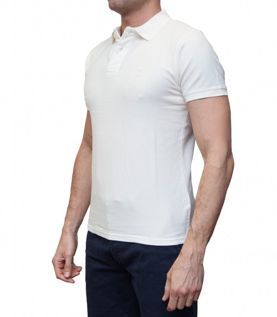 Polo Capri Piquet White