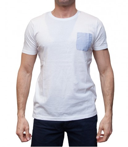 Polo Men Short sleeve polo Slim Cotton full color White