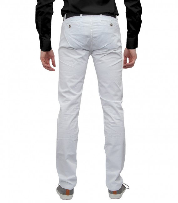 trousers Ischia cotton gabardine White