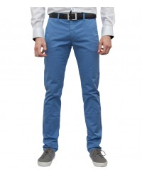 trousers Ischia cotton gabardine Melange Light Blue