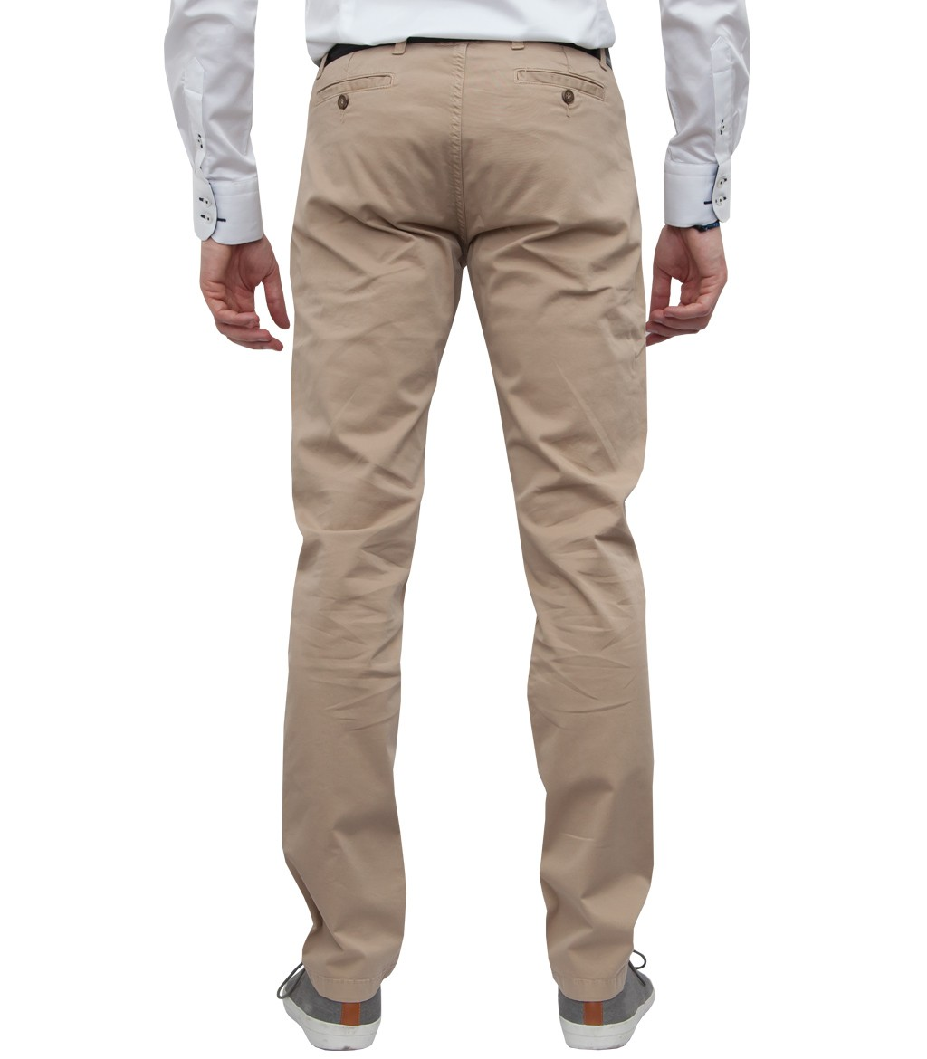 Trousers Ischia Cotton Gabardine Off White