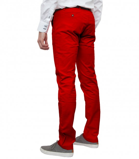 trousers Ischia cotton gabardine Red