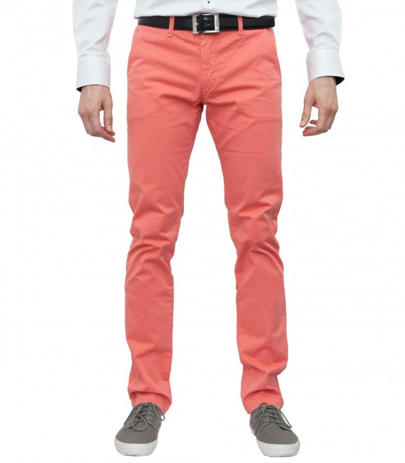 trousers Ischia cotton gabardine Coral