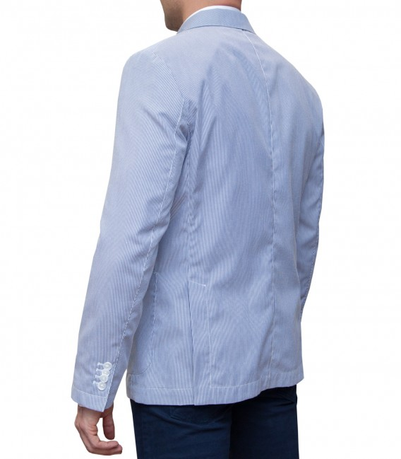 Jacket Roma Cotone Poliestere BluBianco