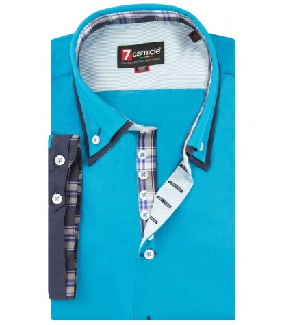 CAMICIA DONATELLO TURCHESE