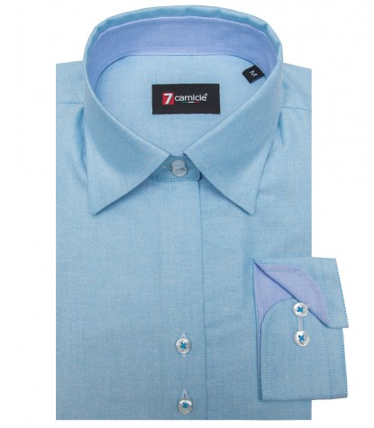 Camicia Linda Oxford Turchese