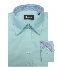 Shirt Linda Oxford Water Green