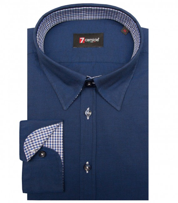 Shirt Leonardo Oxford Blu