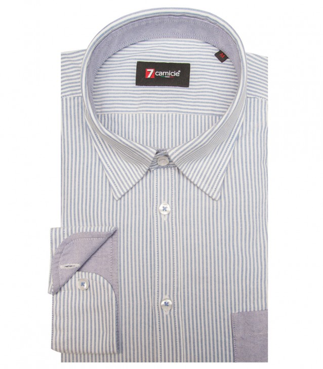 Shirt Leonardo Oxford WhiteBlue