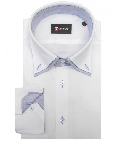 Camisas Marco Polo Oxford Branco