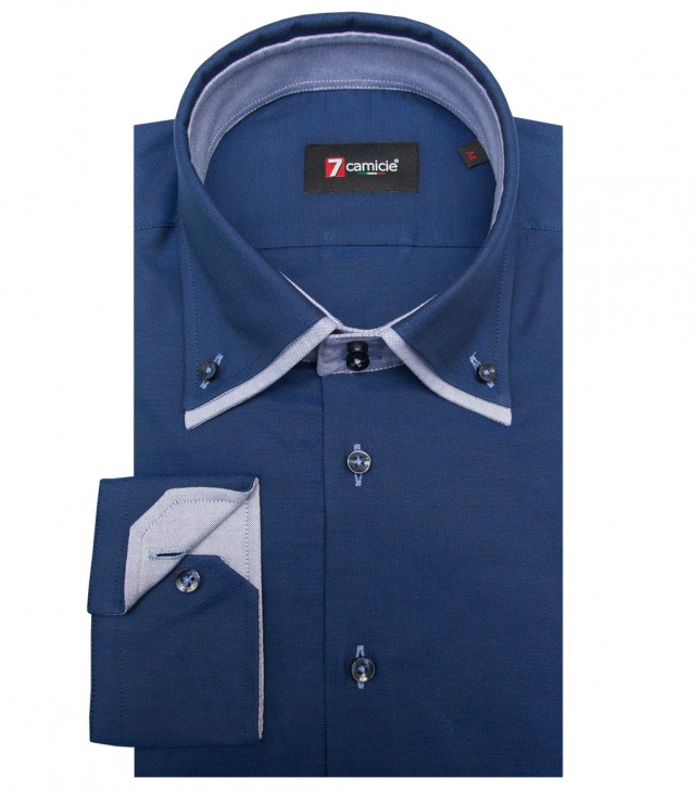 Camisas Marco Polo Oxford Azul