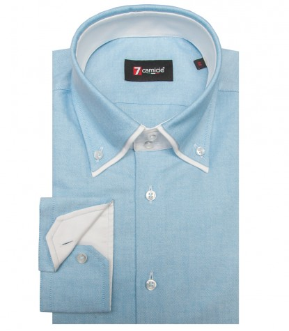 Camicia Marco Polo Oxford Turchese