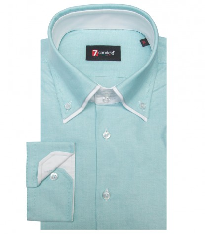 Camicia Marco Polo Oxford Verde Acqua