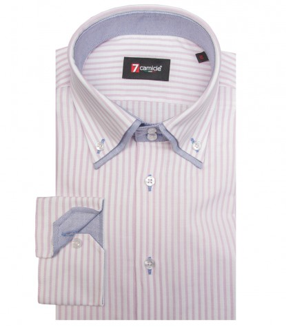 Shirt Marco Polo Oxford WhitePink