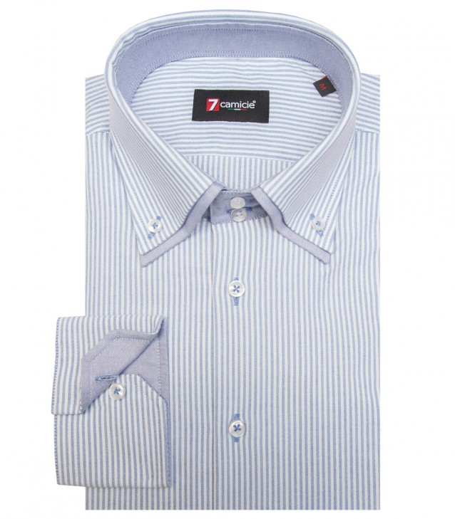 Camisas Marco Polo Oxford BlacoAzul