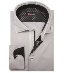 Shirt Lorenzo Satin Light Grey