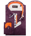 Shirt Marco Polo Satin Aubergine