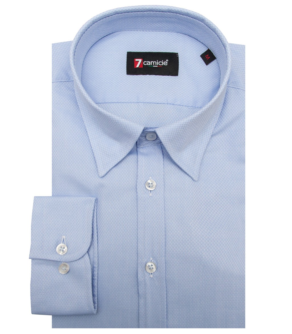 Shirt men long sleeve 1 button slim cotton polyester for Polyester button up shirt
