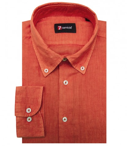 Camicia Leonardo orange brique