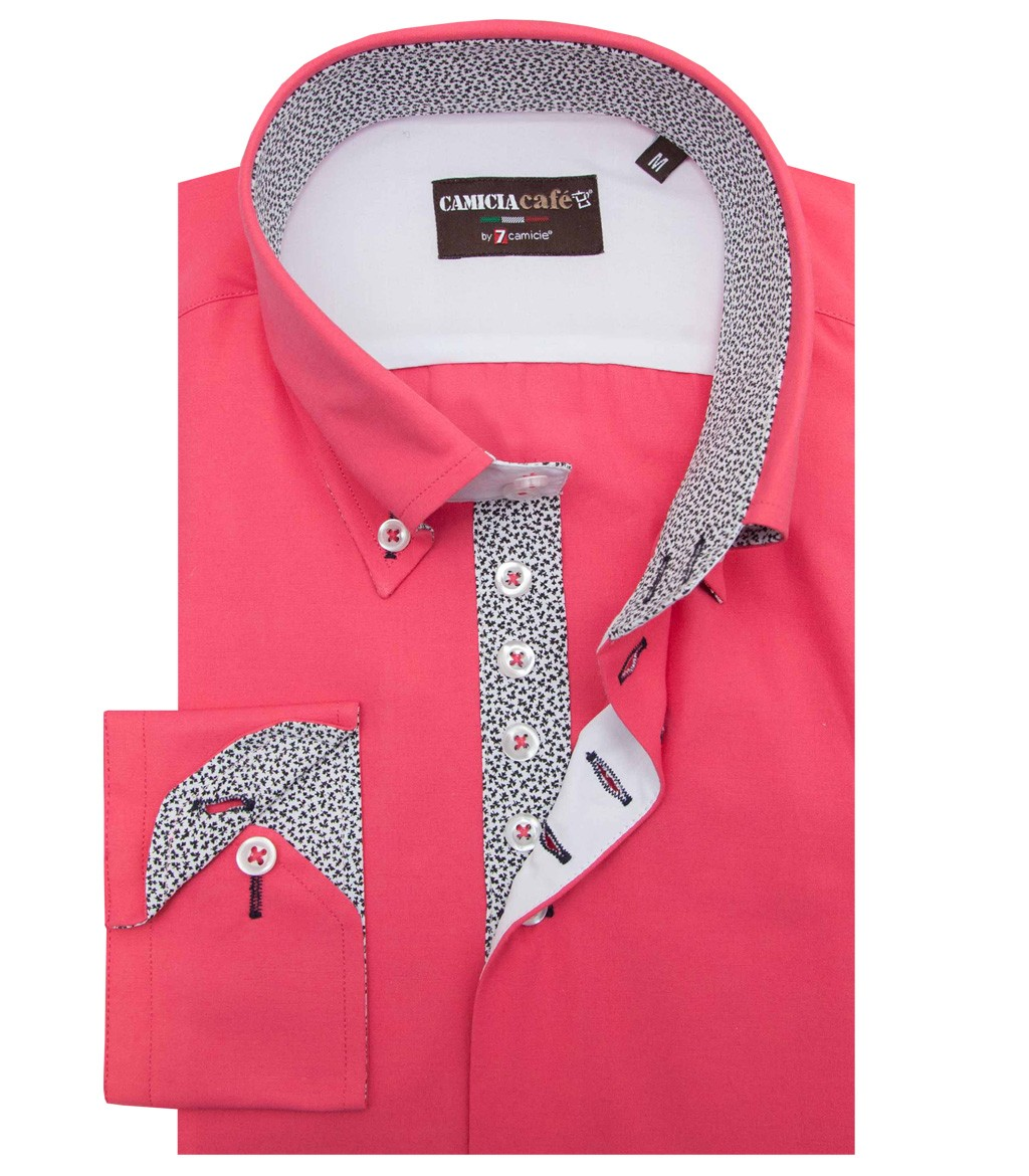 Shirt Roma Cotton Polyester Coral